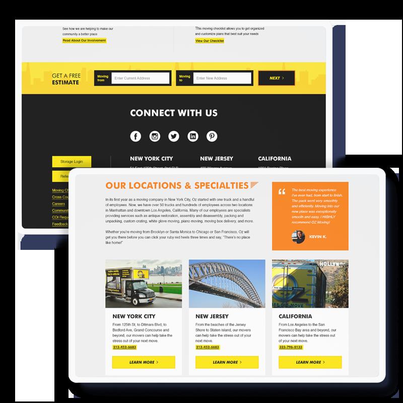 Landing Page Desktop Views